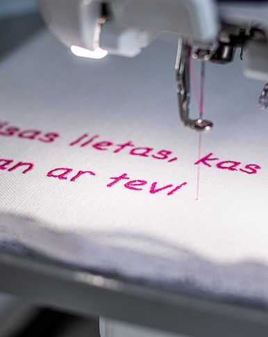 Our working process is very practical – we like to work with fabric, lace, buttons