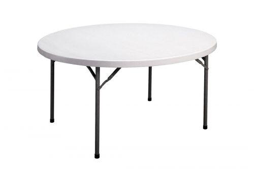 Apaļš saliekams galds 1.52m