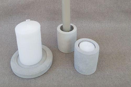 Betona cilindra formas svečturi