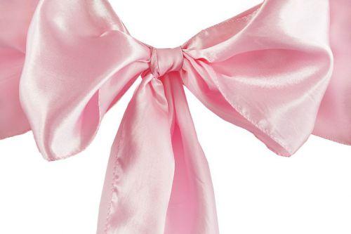 Gaiši rozā krēslu lentes