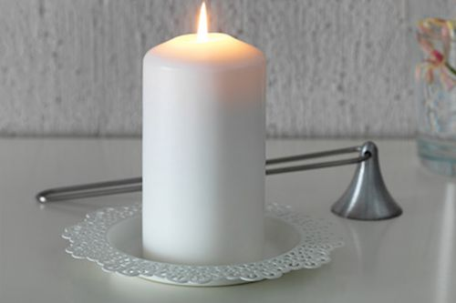 Mežģīņu svečturu paliktņi mazie