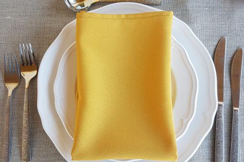 Sinepju krāsas salvetes