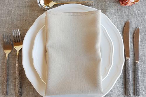 Smilšu krāsas salvetes
