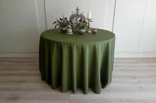 Sūnu zaļš apaļais galdauts