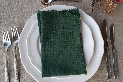 Tumši zaļas salvetes